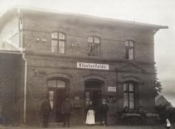 Damals: Bahnhofswirtschaft um 1920 Bahnhof Klosterfelde